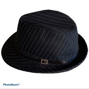 4/$20 Ladies Ardene pinstriped fedora hat
